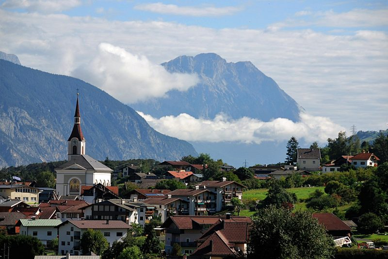 Austria, village, mountains
