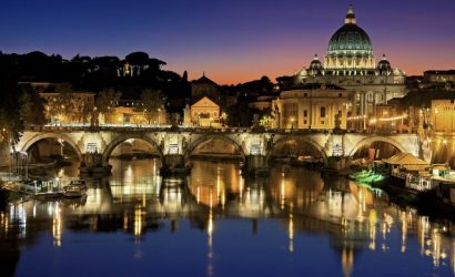 Rome, Italy, night