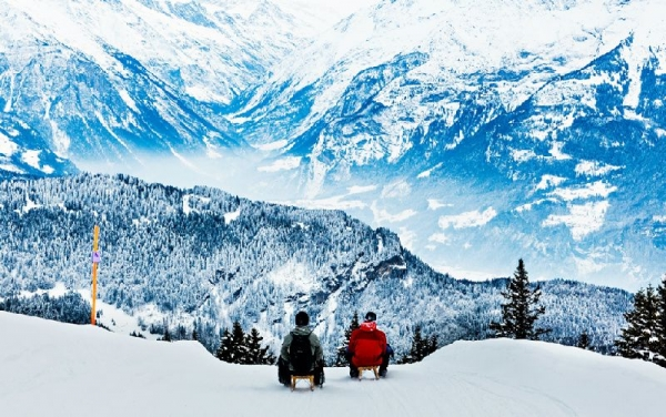 5-Hour Swiss Alps Winter Adventure from Interlaken
